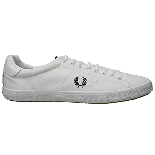 Fred Perry Howells Twill White White Womens Trainers 9 US