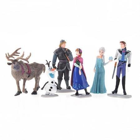 Frozen Figure Play Set Anna Elsa Hans Kristoff Sven Olaf 6 Pcs Set
