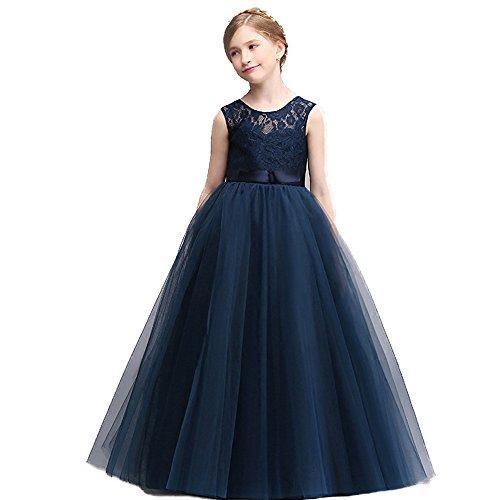 girls Wedding dress Solid color Sleeveless Lace Jacobs Longuette formal ring bearer Dresses (tag:160, (Superhero Ring Bearer)
