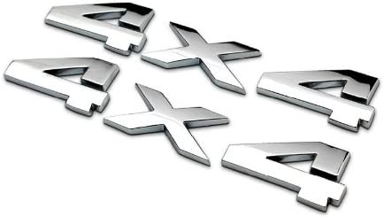 4X4 Chrome Emblem Side Fender Badge Sticker Decal Alloy JEEP Ford Dodge CHEVY GM