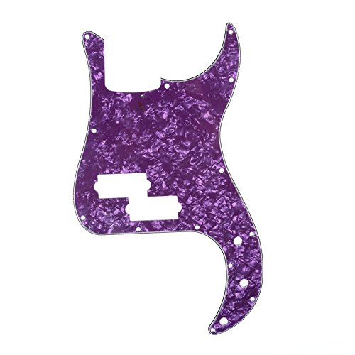 Musiclily P Bass Pickguard Precision Bass Pick Guards for 4 String American/Mexican Precision Bass Guitar, 4Ply Purple Pearl