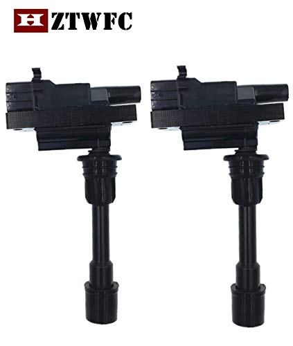 HZTWFC 2 Pack Ignition Coil Compatible for Mazda Protege 323 Premacy FFY1-18-100 FP85-18-100C FPY1-18-100 UF-407
