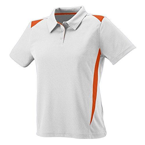 Augusta Sportswear 5013 Women's Premier Sport Shirt, White/Orange, Large Pack