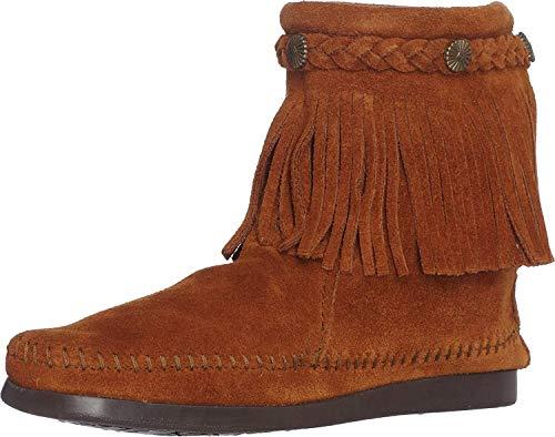 Minnetonka Women's Brown Suede Hi Top Back Zip Boot 8 B(M) US