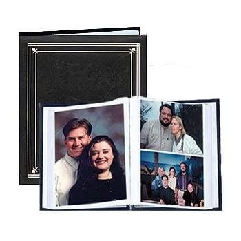 Amazoncom Post Bound Black Pocket Album For 5x7 And 8x10 Prints