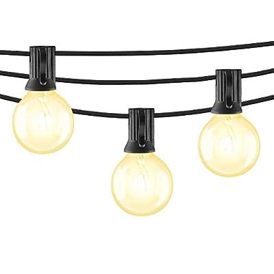 Mr Beams 5W G40 Globe Bulb Incandescent Weatherproof Indoor/Outdoor String Lights (Renewed)