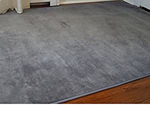 Amazon Com Microfiber Dorm Rug Steele Gray 6 X 9