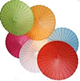 Paper Umbrella For Christmas and New Year Decoration,Paper Parasol,Chinese/Japanese Paper Umbrella - For Weddings