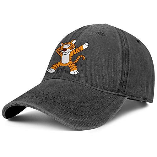 Unisex Dabbing Tiger Cowboy Hats Fashion Adjustable Sun Caps