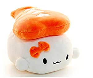 "Sushi Cushion Shrimp by Choba 6"" 15cm - Japanese Food Plush Toy Decoration Pillow by Cotton Food"