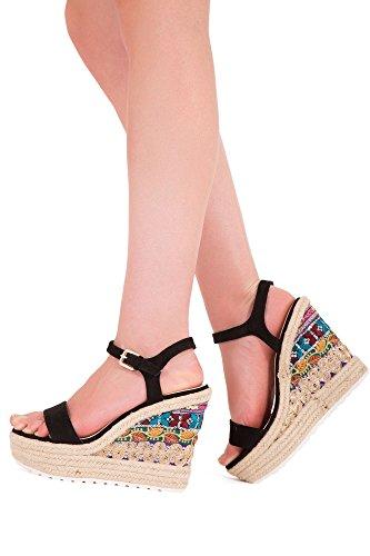 Lusty Chic - Sandalias de vestir de Material Sintético para mujer Beige