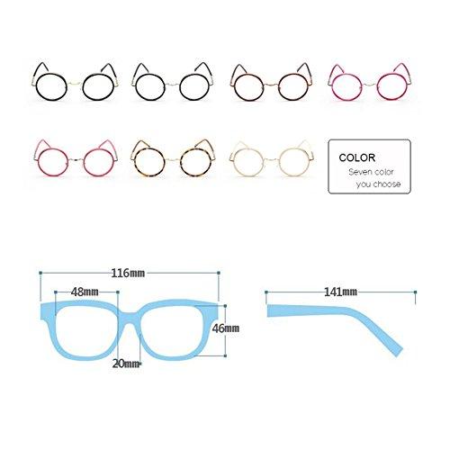 Femmes Mode Métal Inlefen Clear Lens Rondes C247 Hommes Pour Rétro De Lunettes Awtzq0tHR