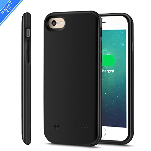 iPhone 8 /7 Battery Case(4.7'') Support Lightning Headphone,CHYING 3000mAH Ultra Slim External Protective Portable For iPhone 7 /8 (4.7in) Extended Charging Battery Caser [With Audio]--Black