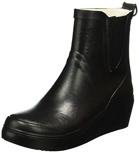 Ilse Jacobsen Damen Gummistiefel Mit Keilabsatz, Rub71, Zapatillas de Estar por Casa para Mujer Negro - Schwarz (Schwarz 001)