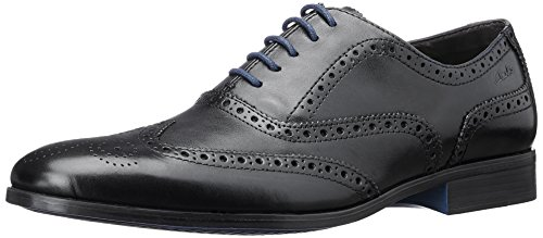 Clarks 261094_Banfield Limit, Scarpe Stringate Uomo Nero (Black Leather)