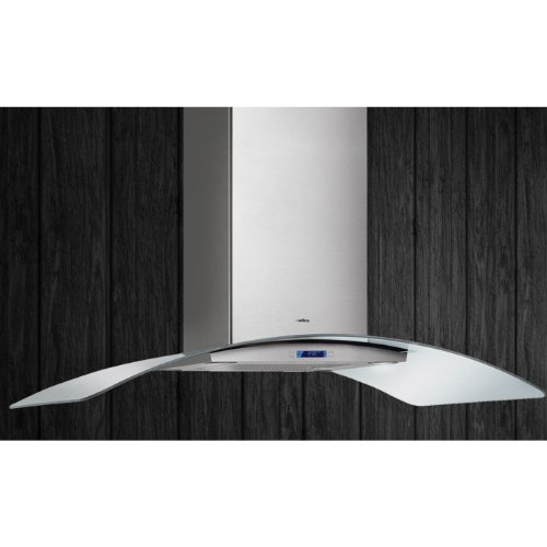 Elica Chimney Hoods - ELICA ECM636S2 Wall Mount Chimney Hood with 600 CFM Internal Blower, 4 Blower Speeds, Halogen Lamps, Electronic Controls, LCD Display and Dishwasher Safe Stainless Steel Micro Hole Filter