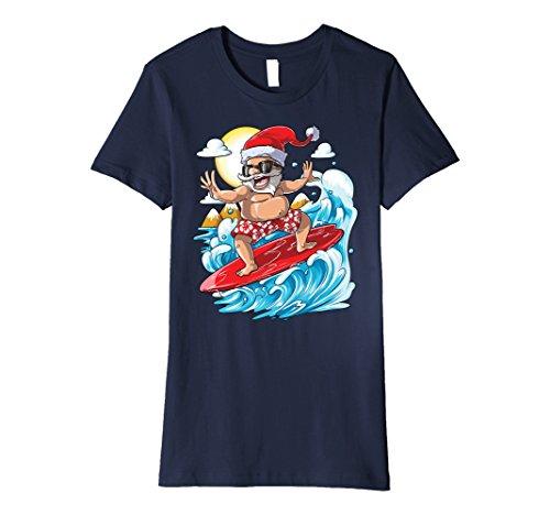 Womens Santa Hawaiian Surfing T Shirt Christmas Summer Surf Hawaii XL - Hawaii In Made Sunglasses