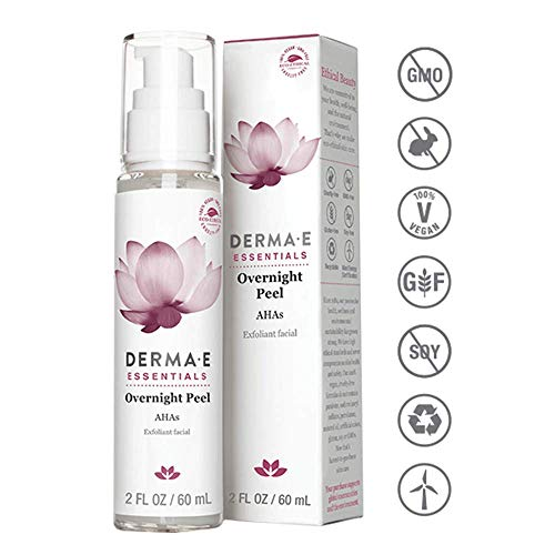 (DERMA E Overnight Peel w/ Alpha Hydroxy Acids, 2oz )