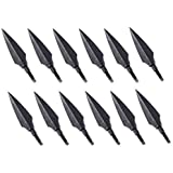 Huntingdoor 12pcs Traditional Hunting Arrow Head Screw-In Broadheads 150 Grain  For DIY