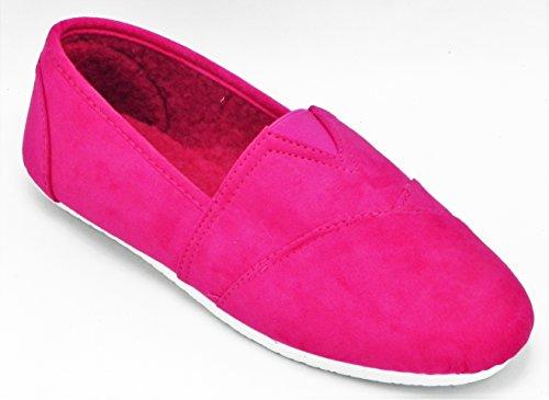 Mocassini Da Donna Multicolor Mocassino Slip On Mocassini Sneaker Scarpette Da Surf Da Donna Fucsia-1