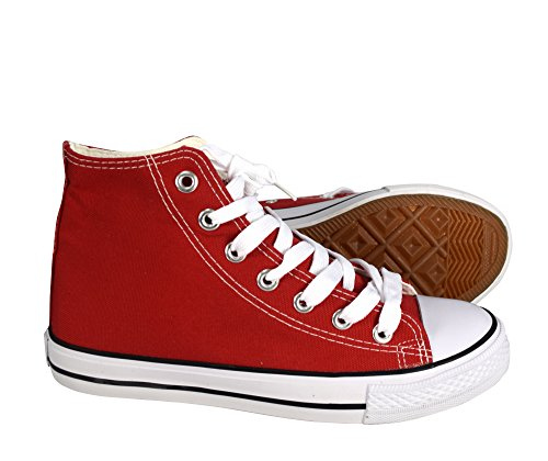Peach Couture High Top Casual Sneakers Shoes Red 10 B(M) US by Peach Couture (Image #2)