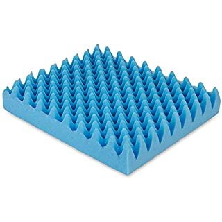 Egg Crate Sculpted Foam Seat Cushion Without Back, Blue