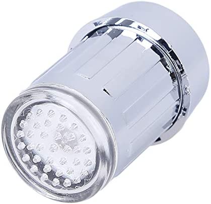 RECDSW Luz Nocturna/LED Water Faucet Stream Light 7 Colors Changing Glow Shower Tap Head Pressure Sensor Bathroom Temperature Kitchen Accessories
