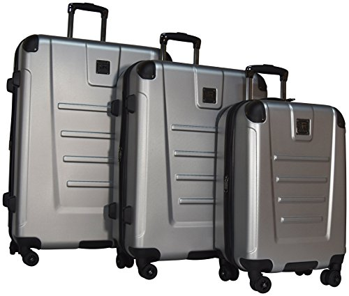 Kenneth Cole Reaction Get Away 3 Piece Expandable Spinner Set: 29'', 25'', and 20'' (Light Silver) by Kenneth Cole REACTION