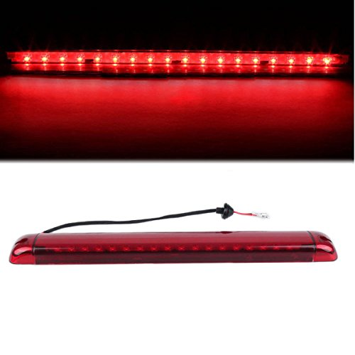 (Dantoo 3rd Brake Light High Mount Stop Light Rear Brake Tail Light For 1992-2004 Chevrolet Suburban GMC Yukon Tahoe Hummer Pickup Truck, LED Brake Lamp With Red Lens)
