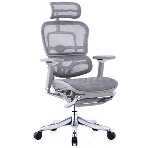 YHRJ Adjustable Arm Chair Office Chairs,Ergonomic Chair, Luxurious Boss Chair, Home Office Computer Chair, Adjustable Swivel Chair, Waist Partition Design, Smart Waist Pillow