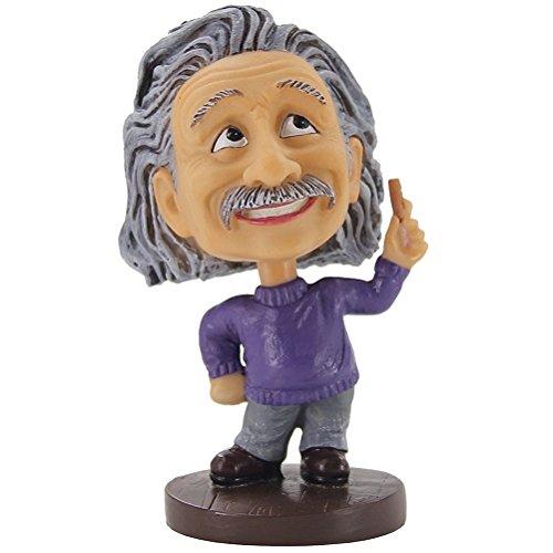 Doll Albert Einstein (Einstein Bobblehead - Albert Einstein Sculpture,Bobble Head for Car Dashboard/Computor/Desk)