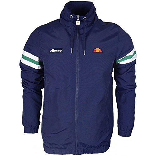 Italy Stripe T-shirt (ellesse Bracciali Polyester Zip Hooded Navy Jacket XXL Navy)