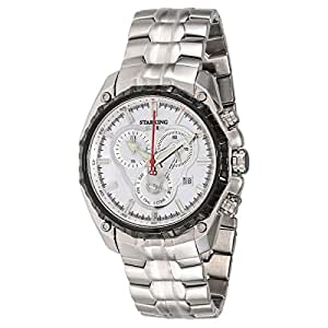 Starking Men's White Dial Stainless Steel Band Watch - BM0831BS11