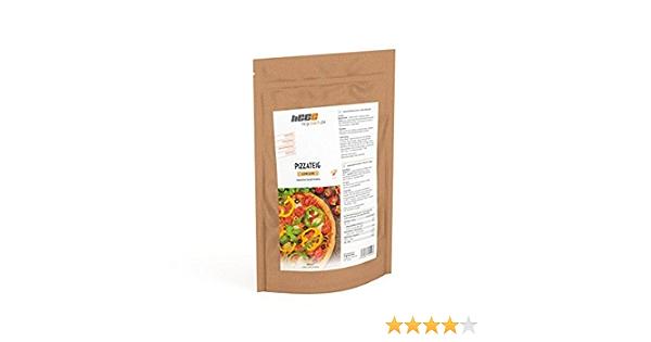 HCG Pizza, Low Carb masa de pizza (150 g), solo 1,6 g KH, sin gluten, sin soja, sin levadura, sin proteínas, sin aditivos