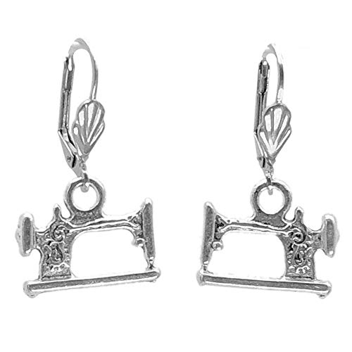 Sabai NYC Antique Sewing Machine Charm Earrings on Stainless Steel Leverback Earwires (Leverback Sewing -