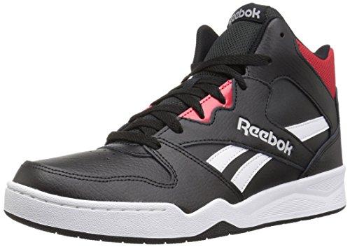 (Reebok Men's Royal Bb4500 Hi2 Walking Shoe, Black/White/Primal red/Light, 6.5 M US)