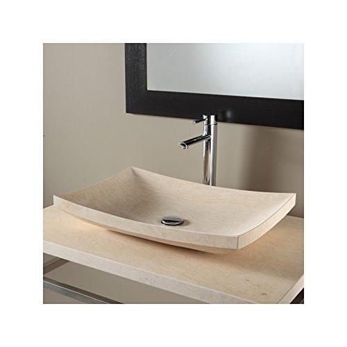 Armario de mesa (piedra natural beige egipcio de carácter: Amazon ...