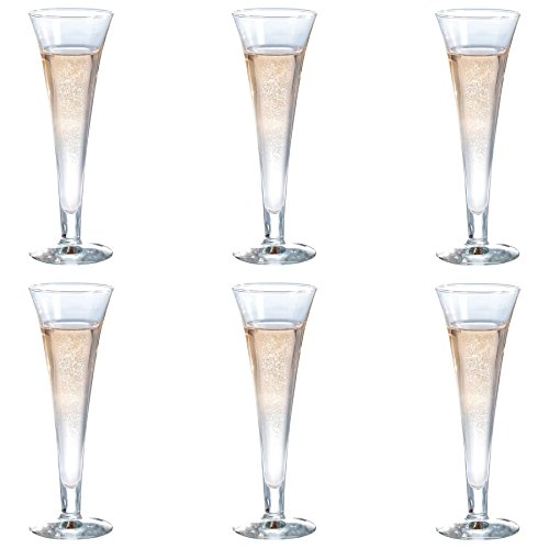 Durobor Royal Trumpet Champagne Glass - 160ml - Pack of 6 Flutes