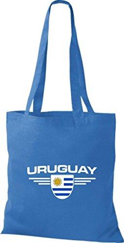 De Shirtstown Land Royal Bolsa Uruguay Países Tela Emblema 55xBgrn