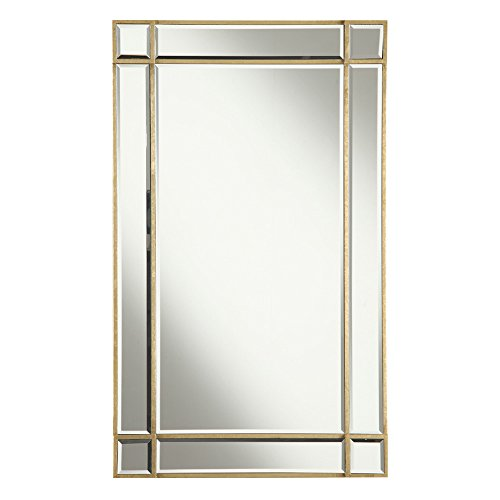 "Elegant Decor MR1-1001GC Florentine Traditional Mirror, 22"", Gold Leaf/MR1-1001GC"