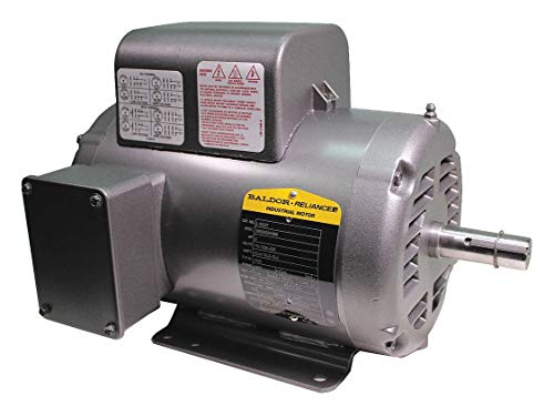 Baldor L1322T General Purpose AC Motor, Single Phase, 145T Frame, Open Enclosure, 2Hp Output, 1725rpm, 60Hz, 115/208-230V Voltage