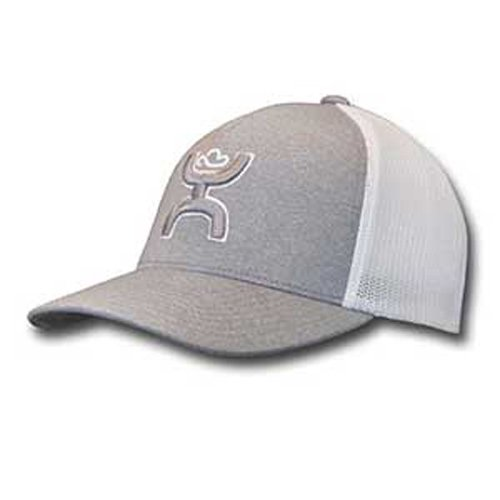 bdbe15f8 ... clearance hooey coach gray white flexfit hat s m 44587 696f2