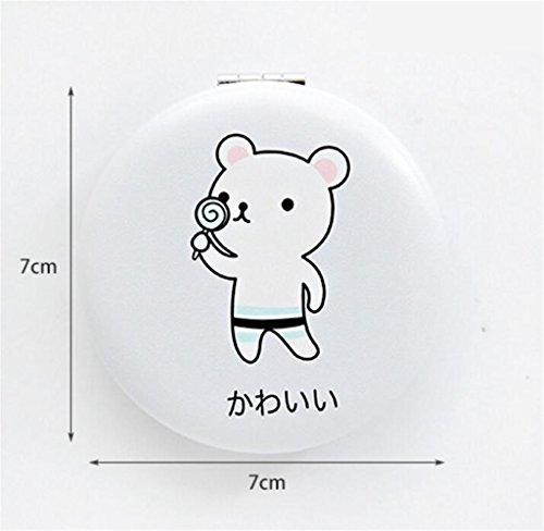 KEANER Women's Accessories Cute Mirror Mini Round Cartoon Animal Pattern Small Glass Mirrors Circles for Crafts Decoration Cosmetic Accessory by KEANER