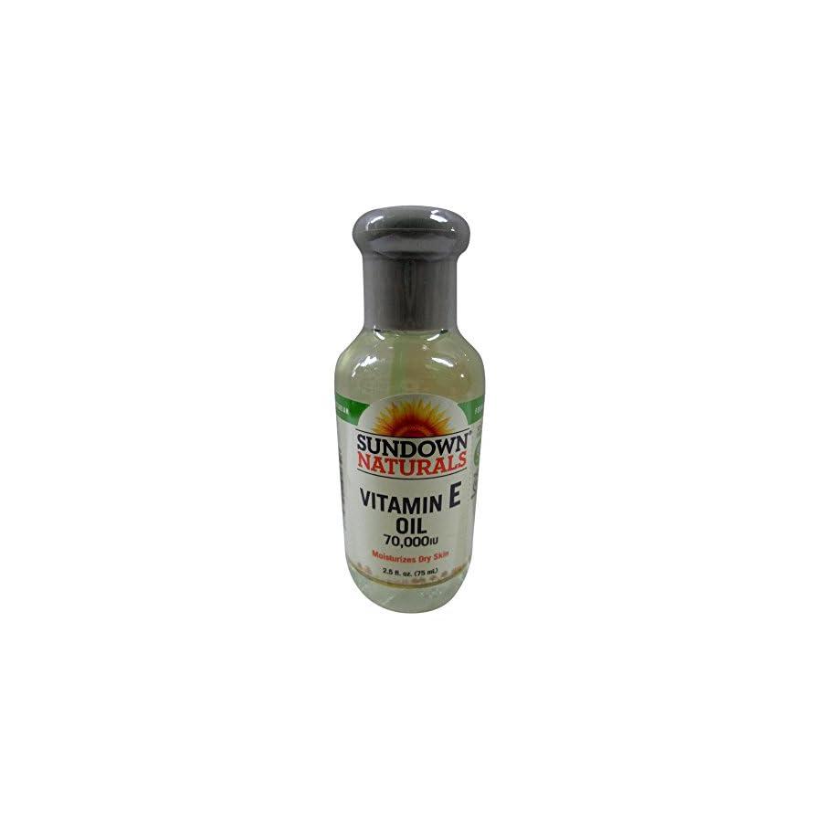 Sundown Naturals Vitamin E Oil 2.50 oz ( Packs of 2)