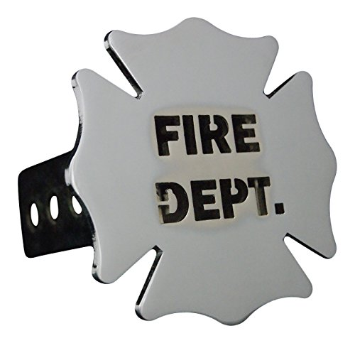 Custom Hitch Covers 12633-Chrome Fire Dept. Hitch Cover, 2