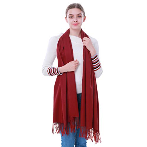 (Cashmere Pashmina Wrap, vimate Pashmina Scarfs and Shawls with Medium Thickness for All Seasons)