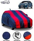 Fabtec Car Body Cover for Maruti Baleno (2015-2019) with Mirror Antenna Pocket (Red & Blue)