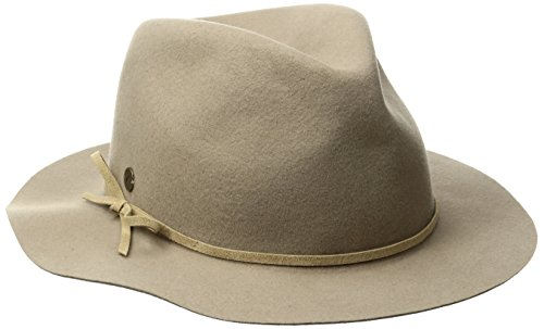 Karen Kane Women's Raw Edge Fedora With Band, Camel, M/L by Karen Kane