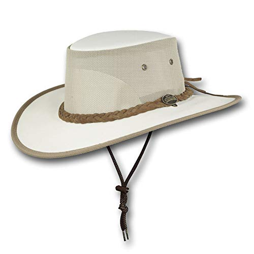- Barmah Hats Canvas Drover Hat - Item 1057 (XLarge, Cream)