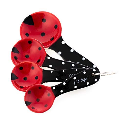 Ladybug Spoon - Home Essentials Ladybug Measuring Spoon Ceramic Set of 4
